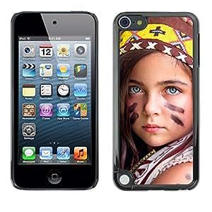 Be Good Phone Accessory // Dura Cáscara cubierta Protectora Caso Carcasa Funda de Protección para Apple iPod Touch 5 // little indian devochka