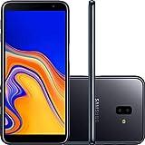 Smartphone Samsung Galaxy J6 Plus Preto 32GB 3GB RAM Tela infinita de 6 ´ Dual Câmera 13MP 5MP