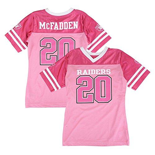 Outerstuff Darren McFadden NFL Oakland Raiders Mid Tier Replica Pink Jersey Girls (7-16) (Jersey Nfl Raiders Replica)