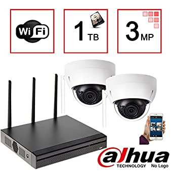 Kit de vigilancia IP WiFi Dahua: 4 CH Mini Wifi NVR + 2 x WIFI
