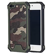 MOONCASE iPod Touch 5 / 6th Case, Camouflage [Shock Absorption] Durable Hybrid Dual Layer 2 in 1 Anti-Slip TPU Case Cover for iPod Touch 5 / iPod Touch 6 Green