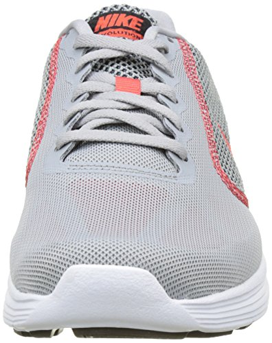 NIKE Durchgehendem reiverschluss aw77 track and field - Forro para hombre Gris (Wolf Grey/Track Red/ Black)