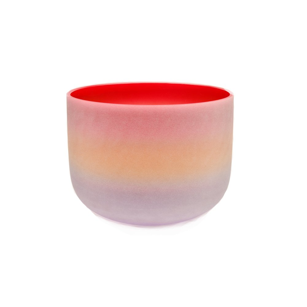 TOPFUND D Note Sacral Chakra Rainbow Crystal Singing Bowl 10 inch, O ring and Rubber Mallet Included, the 2nd Chakra Sound Healing Singing Bowls Meditation, Yoga Enthusiasts and Sound Healer Tool