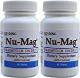 Nu-Mag Magnesium Chloride with Calcium Enteric Coated 60 Tablets per Bottle PACK of 2