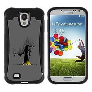 Suave TPU GEL Carcasa Funda Silicona Blando Estuche Caso de protección (para) Samsung Galaxy S4 IV I9500 / CECELL Phone case / / Wizzard Witch Smoke Hood Fairytale Story Cartoon /