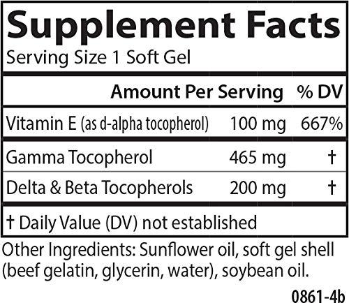 Carlson Gamma E-Gems 465 mg, Gamma Tocopherols, 120 Soft Gels by Carlson (Image #1)
