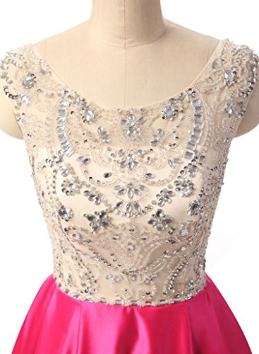 Prom with A Satin JB010 Long Neck Silver Beading Jazylynbride Line Scoop Dress Women's C5HOSpcS
