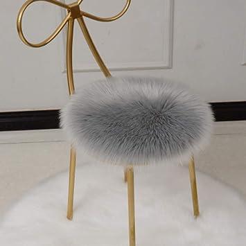Amazon.com: Cojín de asiento de lana artificial de Rart ...