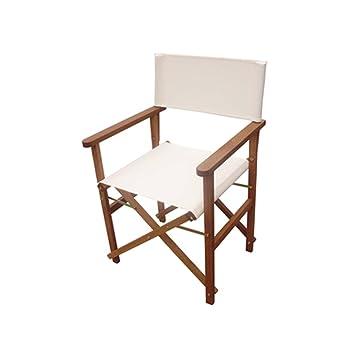 Amazon.de: Set mit Regiestühlen, aus Holz und Stoff in Beige ...