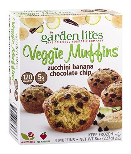 Frozen Muffins (Garden Lites Zucchini Banana Chocolate Chip Veggie Muffin, 8 Ounce -- 8 per case.)