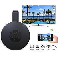 Kinpasy 1080P Wifi Display Dongle for Google Chromecast 2 Wireless HDMI Dongle Adapter Digital HDMI TV Media Player Video Streamer Receiver Support Miracast Airplay DLNA for TV Streaming