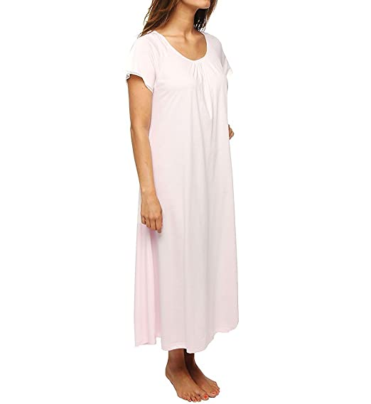 3a01a020c5e P-Jamas Lacy Jersey Short Sleeve Gown (370801) L Pink at Amazon ...