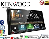 """Kenwood DMX7705S Car Stereo Double Din Radio with Apple CarPlay Android Auto Bluetooth, 6.9"""""""