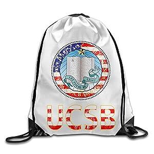 NUBIA UCSB University Logo Backpack Gymsack Drawstring Rucksack