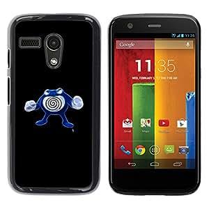 Motorola Moto G 1 1ST Gen , Poliwhirl P0Kemon - Cáscara Funda Case Caso De Plástico