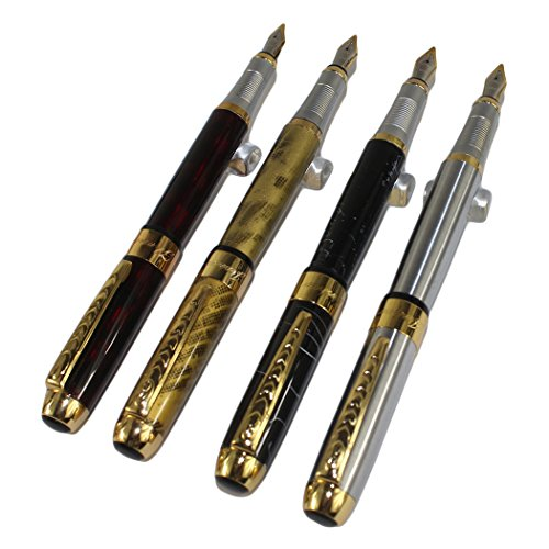 4 PCS in Set Gullor 250 Fountain Pen Cartridge Pens in 4 Colors with Pen Pouch (Best Affordable Weed Vape)