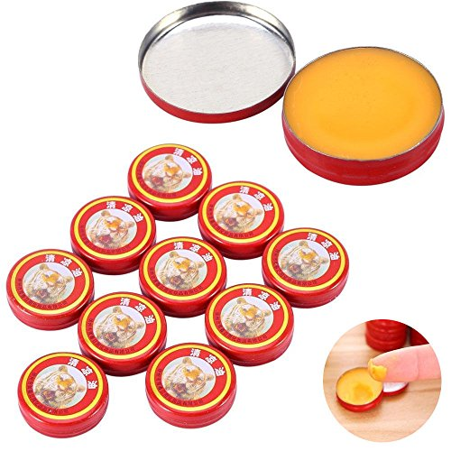 zinnor 10pcs Essential Tiger Balm Oil QingLiangYou Headaches Carsickness Itching Relief from Zinnor