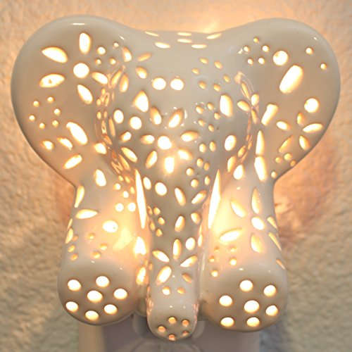 Child's Nursery Lamp/Night Light - Cotton Elephant (available in multiple animals and colors) from Lilys Lights