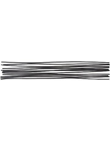 Dabixx 12pcs Varilla de Soldadura de plástico PP Negro Piso de Parachoques del automóvil de Soldadura