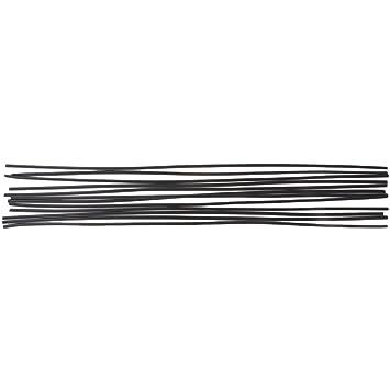 Dabixx 12pcs Varilla de Soldadura de plástico PP Negro Piso de Parachoques del automóvil de Soldadura de plástico 50 cm: Amazon.es: Hogar