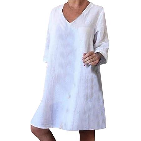 Vestido Largo de Fiesta Casual de Playa con Cuello en V y ...
