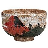 Japanese Matcha Bowl Red Fuji Kutani Yaki(ware)