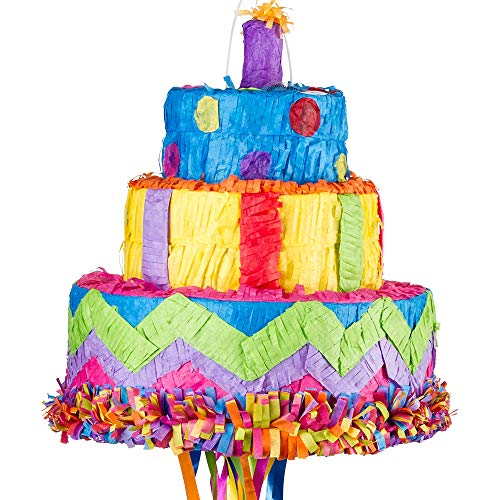 cake Birthday Pull String Pinata]()