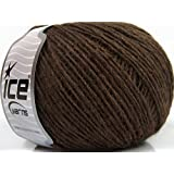 Lot of 8 Skeins ICE YARNS Sori Wool Fine Brown