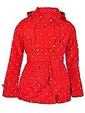 Jessica Simpson Girls' Big Pretty Trench Coat, Tomato/White Dot 10/12
