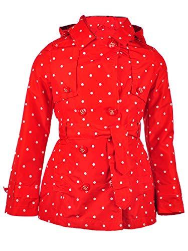 Jessica Simpson Girls' Big Pretty Trench Coat, Tomato/White Dot -