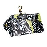 JSTLE Zebra Africa Key Organizer Case Wallets Unisex Keychain Key Holder Ring with 6 Hooks