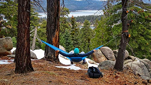 Hummingbird Hammocks Ultralight Single Plus Hammock, Skydiver Blue