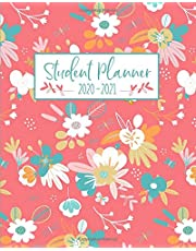 Student Planner: Academic Year July - June | Weekly and Monthly Agenda Organizer Calendar | Pink Blue Floral