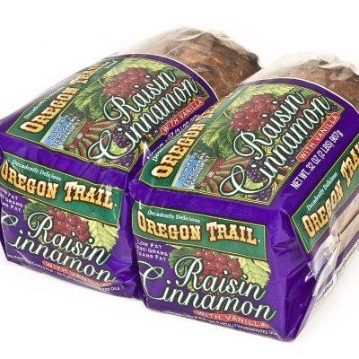 Raisin Bread Loaf - Oregon Trail Raisin Cinnamon with Vanilla Bread - 2-32 oz. Loaves