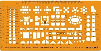 Scale Architectural Drawing Template Stencil