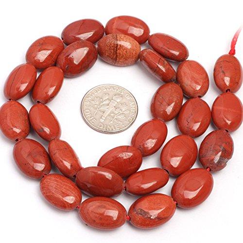 - JOE FOREMAN 10x14mm Red Jasper Semi Precious Gemstone Oval Loose Beads for Jewelry Making DIY Handmade Craft Supplies 15