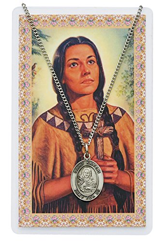 St. Kateri Prayer Card Set with Medal