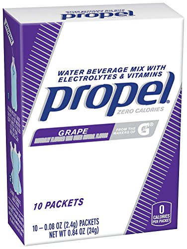 Propel, Grape, Water Beverage Mix with Electrolytes and Vitamins (10 Packets)