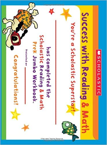 Amazon.com: Scholastic Pre-K Reading & Math Jumbo Workbook ...