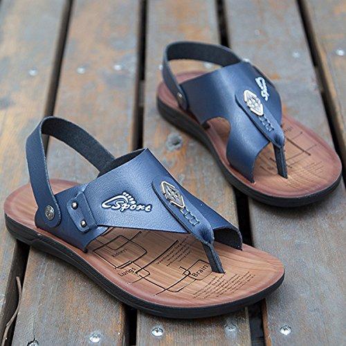 ZHNAGJIA ZHNAGJIA ZHNAGJIA Ist Cool Hausschuhe Männer Neue Sommer Koreanische Version Badeschuhe Weichen Boden Freizeitaktivitäten Skid Sandalen, 40,5825 Blau 7747c6