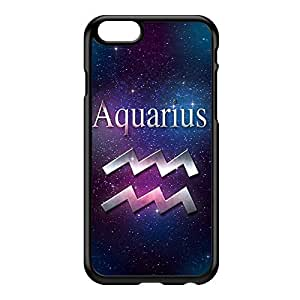 Aquarius Black Hard Plastic Case for iPhone 6 by textGuy + FREE Crystal Clear Screen Protector