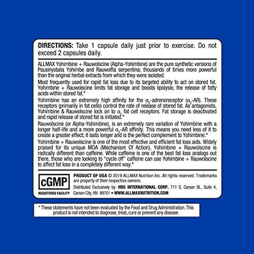 ALLMAX Nutrition Yohimbine + Rauwolscine, 60 Capsules by ALLMAX Nutrition (Image #4)