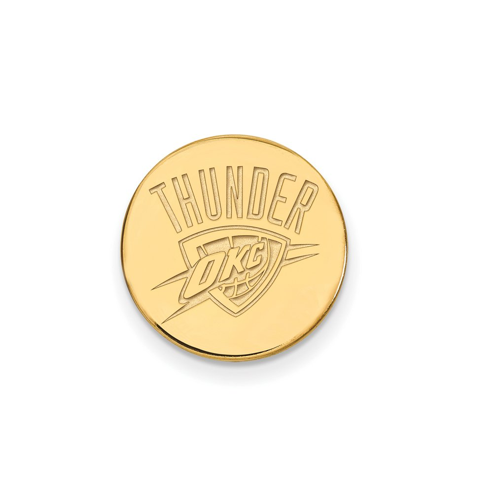 NBA Oklahoma City Thunder Lapel Pin in 14K Yellow Gold by LogoArt