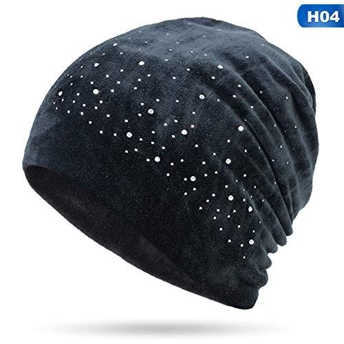 - Diamond Decorative Hat Velvet Winter Ladies Hat Woman Warm Soft Cap Slouchy Female Rhinestone