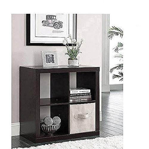 Better Homes and Gardens.. Bookshelf Square Storage Cabinet 4-Cube Organizer (Weathered) (White, 4-Cube) (Espresso, 4-Cube) from Better Homes and Gardens..