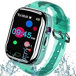 "iGeeKid Kids Smart Watch Phone-IP67 Waterproof Smartwatch Boys Girls Toddler Digital Wrist Watch 1.44"" Full Touch,Calls…"