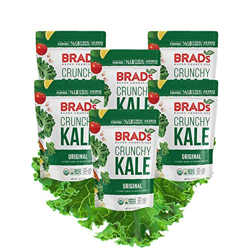Brad Pack - Brad's Plant Based Organic Crunchy Kale, Original, 6Count