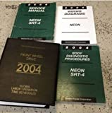 2004 DODGE NEON SRT 4 Service Repair Shop Manual Set W Diagnostics & EWD + Labor