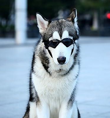 Kpmall Large Dog Goggles Sunglasses UV Protective Foldable Lenses Eye Wear Protection Fashion Eyewear Goggles