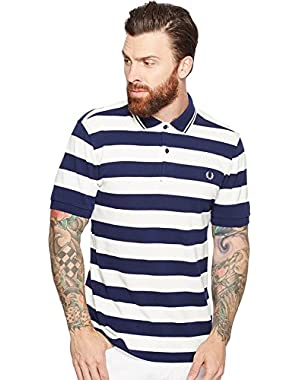 Mens Striped Pique Shirt